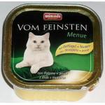 83210 Animonda VOM FEINSTEN Adult кон. д/кошек с мясом домашней птицы и пастой 100гр*32