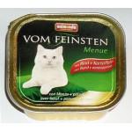 83211 Animonda VOM FEINSTEN Adult кон. д/кошек с говядиной и картошкой 100гр*32