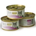 3025/100060 Brit Care Консервы д/кошек Тунец с лососем 80гр