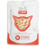 "100118 Brit Care Cat Пауч д/кошек ""Курица и сыр"" 80гр*24шт"