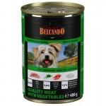 *БЕЛЬКАНДО кон.д/собак Мясо с овощами 400гр*24