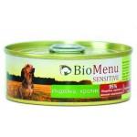 Biomenu SENSITIVE Консервы для собак Индейка/Кролик 95%-МЯСО 100гр*24