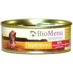 Biomenu SENSITIVE Консервы для собак Перепелка 95%-МЯСО 100гр*24