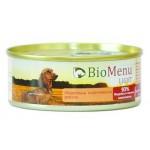 Biomenu LIGHT Консервы для собак Индейка с коричневым рисом 93%-МЯСО 100гр*24