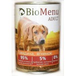 Biomenu ADULT Консервы для собак Говядина/Ягненок 95%-МЯСО 410гр*12