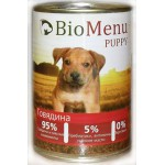 Biomenu PUPPY Консервы для щенков Говядина 95%-МЯСО 410гр*12