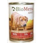 Biomenu ADULT Консервы для собак Мясное ассорти 95%-МЯСО 410гр*12