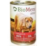 Biomenu ADULT Консервы для собак Говядина 95%-МЯСО 410гр*12