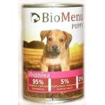 Biomenu PUPPY Консервы для щенков Индейка 95%-МЯСО 410гр*12