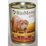 Biomenu ADULT Консервы для собак Цыпленок с Ананасами 95%-МЯСО 410гр*12