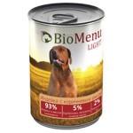 Biomenu LIGHT Консервы для собак Индейка с коричневым рисом  93%-МЯСО 410гр*12