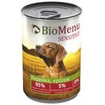 Biomenu SENSITIVE Консервы для собак Индейка/Кролик 95%-МЯСО 410гр*12