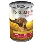 Biomenu SENSITIVE Консервы для собак Перепелка  95%-МЯСО 410гр*12