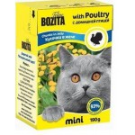 2100 BOZITA MINI кон. д/кошек кусочки в желе с Домашней птицей 190гр*16 в упак. Tetra Recart