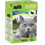 2105 BOZITA MINI кон. д/кошек кусочки в соусе с Мясом Утки 190гр*16 в упак. Tetra Recart