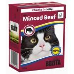 BOZITA Feline Beef, мясные кусочки в желе с Рубленой Говядиной - 370г