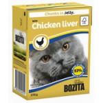 BOZITA Feline Chicken liver, мясные кусочки в желе с Куриной Печенью - 370г