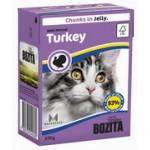 BOZITA Feline Minced Turkey, мясные кусочки в желе с Рубленой Индейкой - 370г