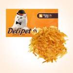 0495 DeliPet Delipet Лакомство д/кошек Строганина из курицы 50гр*100