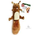 GiGwi 75015 Игрушка для собак Белка с большой пищалкой 1*48