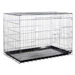 KREDO 043 CROME Клетка для собак с гальваническим покрытием с пластмассовым поддоном 93*57*64см хром
