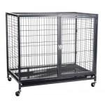 KREDO 073 Клетка для собак 95*57,5*86,5см с пластмассовым поддоном на колесах