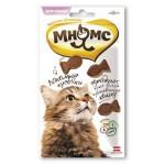 """700231 Лак-во """"Мнямс"""" Лакомые кусочки  для кошек в форме рыбок со вкусом лосося 35гр"""