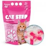 """Cat Step  Наполнитель силикагель """"Сакура""""  1,67кг (3,8л)"""
