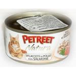 53517 PETREET Кон.д/кошек Куриная грудка с лососем 70гр*12