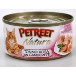 53062 PETREET Кон.д/кошек Кусочки розового тунца с креветками 70гр*12