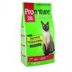 """Pronature Пронатюр 28 сухой Корм для кошек """"Мясной Праздник"""" цыпленок, лосось и ягненок 2,72кг"""