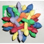 """*J-36-222 ТРИОЛ Игрушка для собак Кристалл разноцветный с сердечками цельно/резиновый 5,5""""*ф13см"""