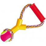 *5608030 DEZZIE Игрушка для собак, 25см, 180-190г, хлопок, пластик, резина